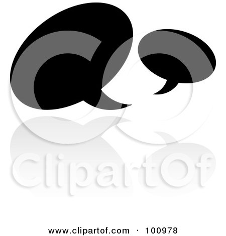 Royalty-Free (RF) Clipart Illustration of a Black And White Symbol Icon by cidepix