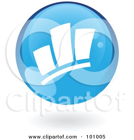 Royalty-Free (RF) Clipart Illustration of a Blue Statistics Icon by cidepix