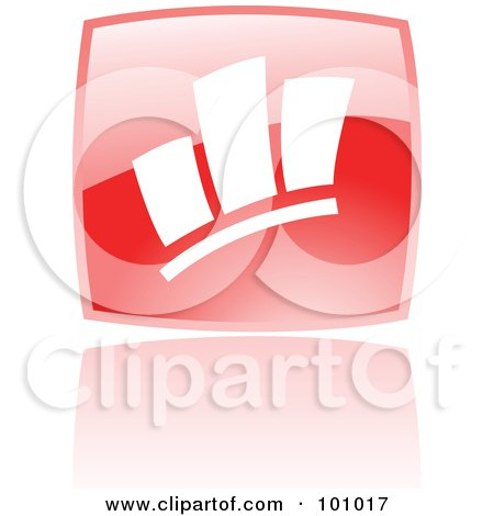 Royalty-Free (RF) Clipart Illustration of a Square Red Statistics Icon by cidepix