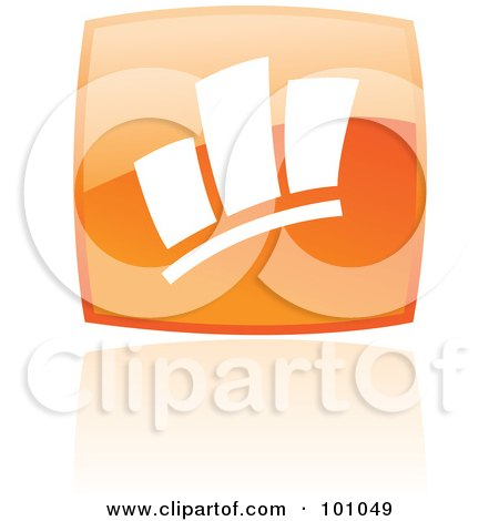 Royalty-Free (RF) Clipart Illustration of a Square Orange Statistics Icon by cidepix