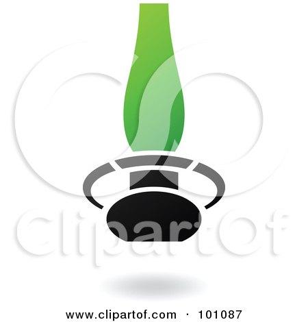 RoyaltyFree RF Clipart Illustration of a Green And Black Desk – Desk Lamp Logo