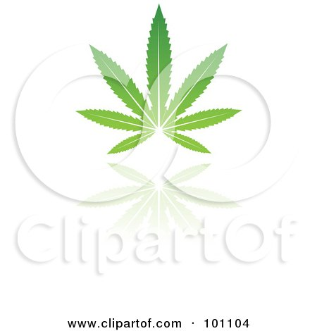 Royalty-Free (RF) Clipart Illustration of a Green Leaf Logo Icon - 5 by cidepix