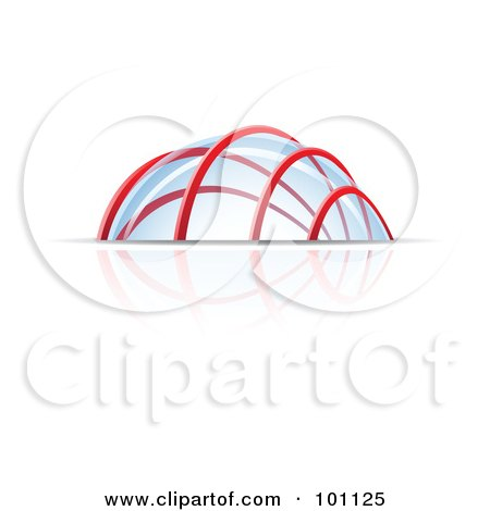 Royalty-Free (RF) Clipart Illustration of a Glass Dome Structure by cidepix