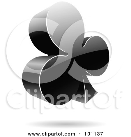 Royalty-Free (RF) Clipart Illustration of a Shiny 3d Clubs Logo Icon by cidepix