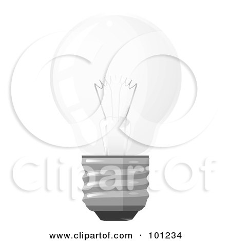 Royalty-Free (RF) Clipart Illustration of a Traditional Round Electric Light Bulb by Leo Blanchette