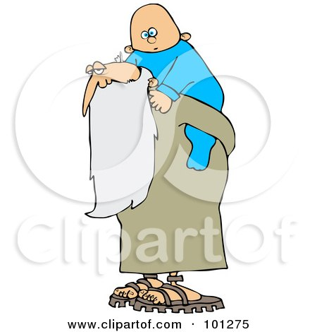 preview clipart old man father time carrying a new year baby on his back