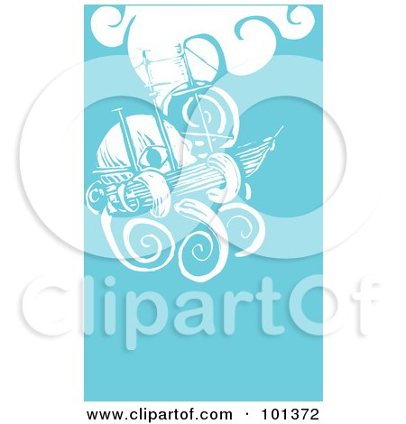 Royalty-Free (RF) Clipart Illustration of a Giant Squid Attacking A Ship by xunantunich