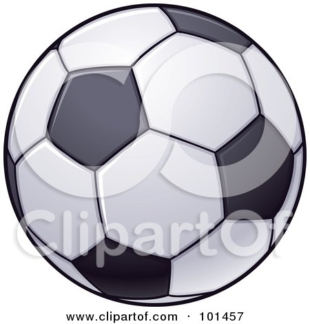 Royalty-Free (RF) Clipart Illustration of a Blue And Green Soccer ...