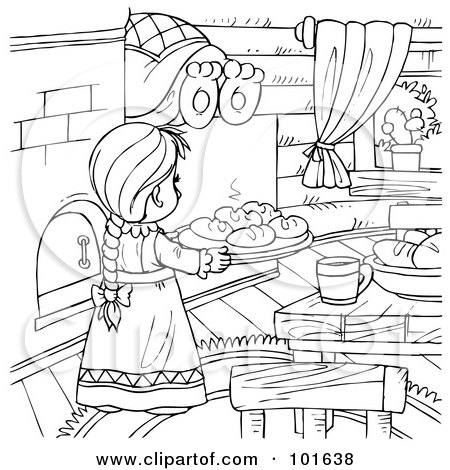 coloring pages of baking - photo#45