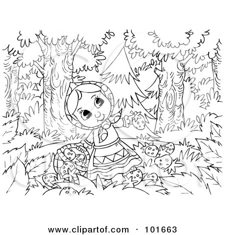 Clipart Illustration Of A Wolf Emerging Behind A Tree