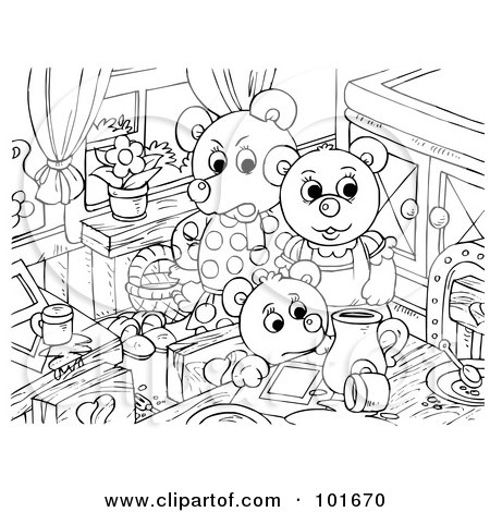 Royalty Free RF Clipart Of The Three Bears