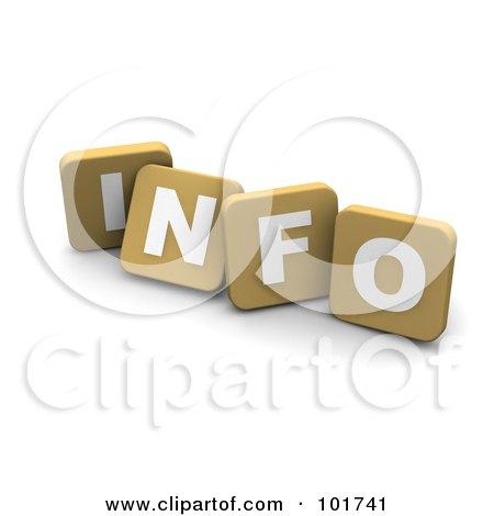 Royalty-Free (RF) Clipart Illustration of 3d Tan Blocks Spelling INFO by Jiri Moucka