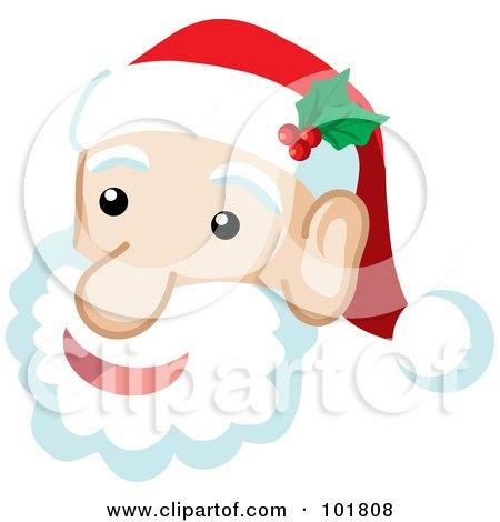 Santa Claus Face Images | New Calendar Template Site