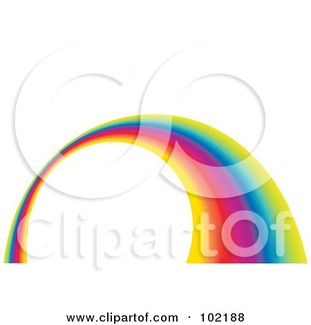 Royalty-Free (RF) Clipart Illustration of a Rainbow Swoosh Wave Background - 4 by MilsiArt