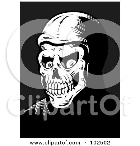 Black And White Skeleton Face