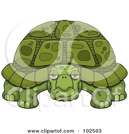 Royalty-Free (RF) Clipart Illustration of a Grumpy Old Tortoise by Cory Thoman