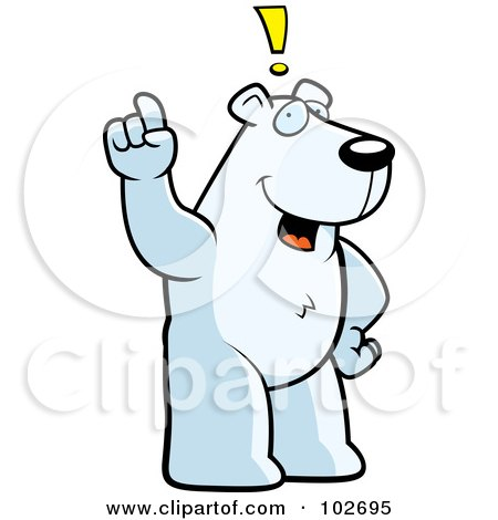 Royalty-Free (RF) Clipart Illustration of an Exclaiming Polar Bear by Cory Thoman