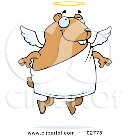 Royalty-Free (RF) Clipart Illustration of an Angel Hamster by Cory Thoman
