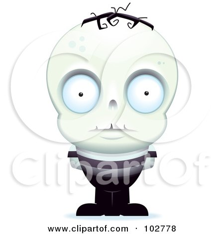 Royalty-Free (RF) Clipart Illustration of a Little Zombie Man by Cory Thoman