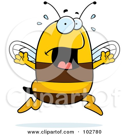 Royalty-Free (RF) Clipart Illustration of a Panicking Bee by Cory Thoman