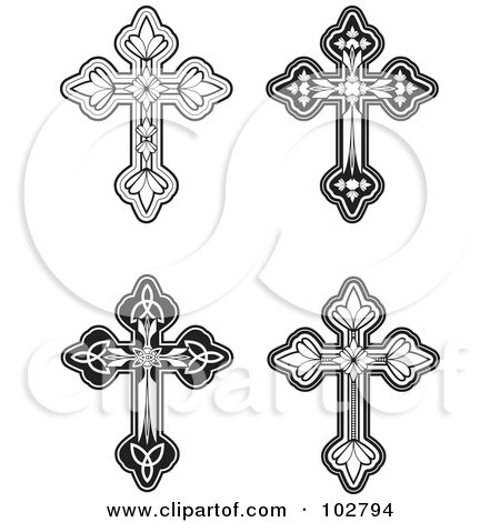 Royalty Free Rf Clipart Of Cross Designs Illustrations