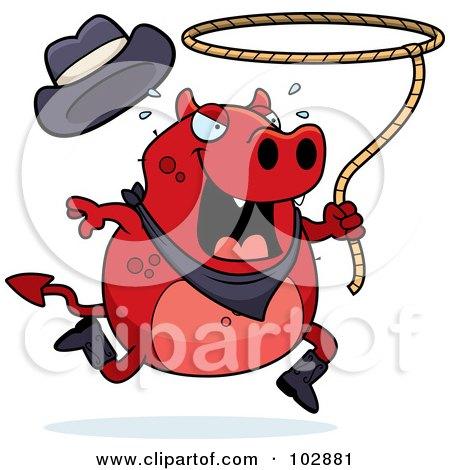 Rodeo Devil Cowboy Swinging A Lasso Posters, Art Prints