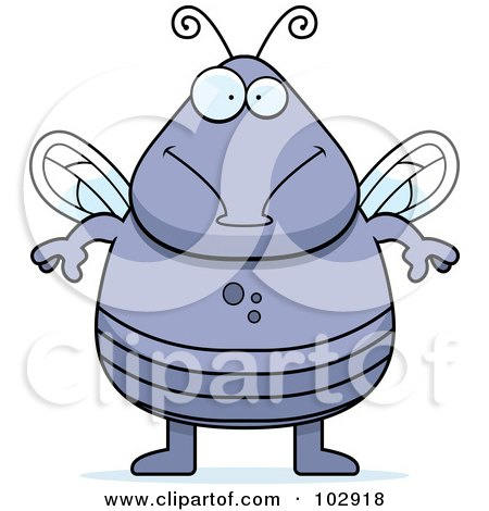 Royalty-Free (RF) Clipart Illustration of a Chubby Fly by Cory Thoman