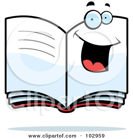 Royalty-Free (RF) Clipart Illustration of a Happy Smiling Book by Cory Thoman