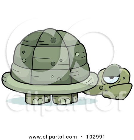 Royalty-Free (RF) Clipart Illustration of a Grouchy Old Tortoise by Cory Thoman