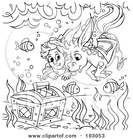 Green Land Shark Coloring Pages