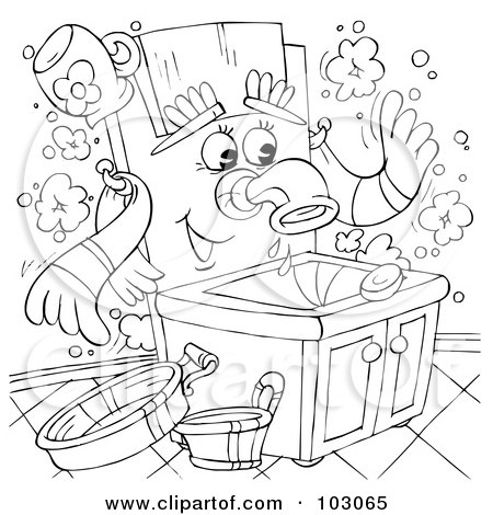 Printable Hand Washing Coloring Sheets - FreePrintable.com