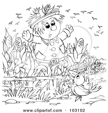 Scarecrow Coloring Pages 14 | Free Printable Coloring Pages To
