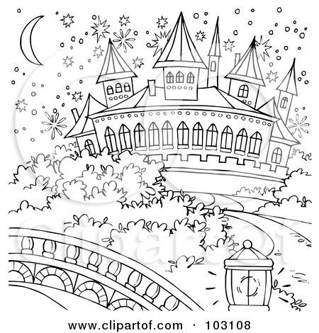 Cinderella Castle Outline Cinderella Castle Posters