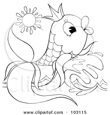 Fish20outline Colouring Pages