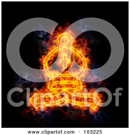 Royalty-Free (RF) Clipart Illustration of a Blazing Chess Bishop Symbol by Michael Schmeling
