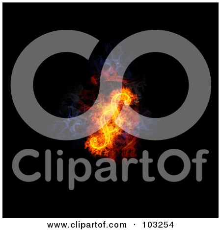 Royalty-Free (RF) Clipart Illustration of a Blazing Paragraph Symbol - 2 by Michael Schmeling
