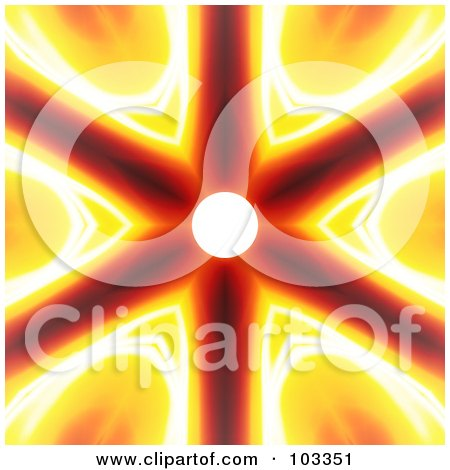 Royalty-Free (RF) Clipart Illustration of a Bright Fiery Solar Background by Arena Creative