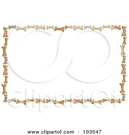 Royalty-Free (RF) Clipart Illustration of a Frame Of Bones And ...