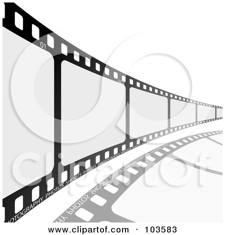 Royalty-Free (RF) Clipart Illustration of a Film Strip Leading To The Right by michaeltravers