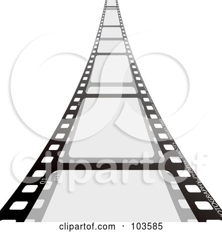 Royalty-Free (RF) Clipart Illustration of a Film Strip Leading Forward by michaeltravers