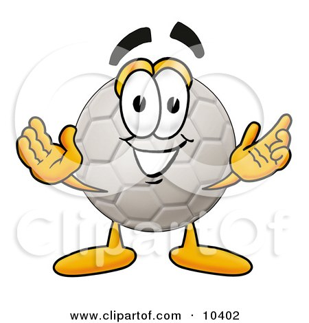 Soccer Ball Mascot Cartoon Character With Welcoming Open Arms Posters, Art Prints