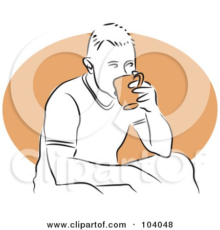 Royalty-Free (RF) Clipart Illustration of a Man Sipping Tea by Prawny