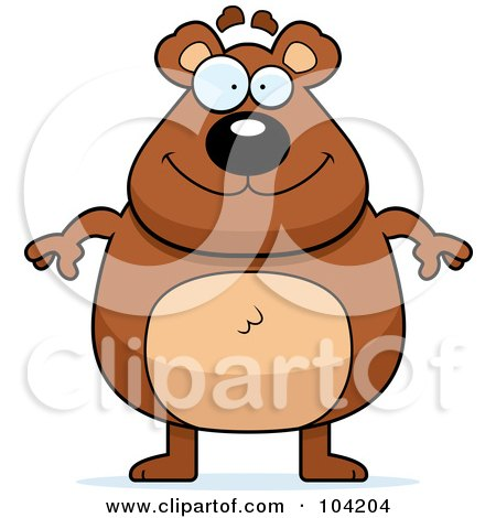 Royalty-Free (RF) Clipart Illustration of a Chubby Bear by Cory Thoman