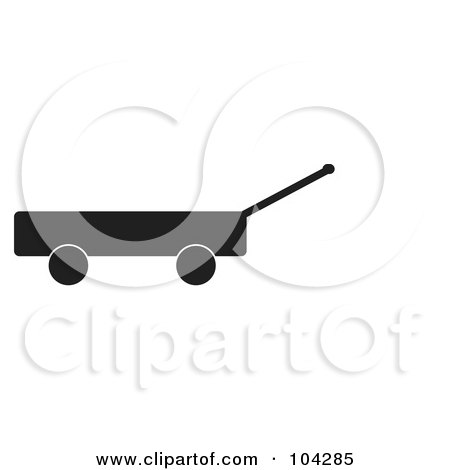 Royalty-Free (RF) Clipart Illustration of a Silhouetted Black Wagon by JR
