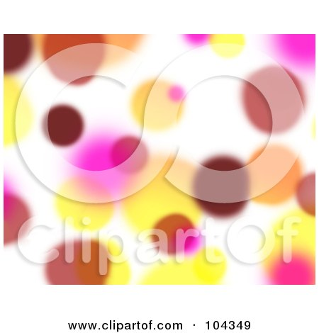 Royalty-Free (RF) Clipart Illustration of a Yellow, Red And Pink Blurred Lights Background by BNP Design Studio