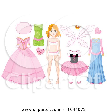 Digital Collage Of A Girl With Fairy Princess Items Posters, Art Prints