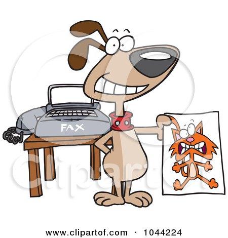 Cartoon Fax Machine Clip Art