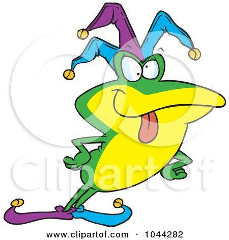 Royalty-Free (RF) Clip Art Illustration of a Cartoon Frog Fool by toonaday