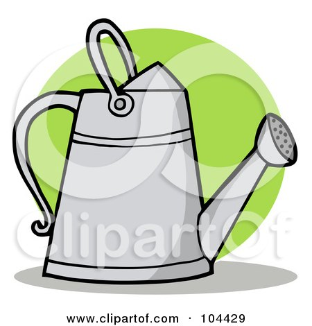 Royalty-Free (RF) Clipart Illustration of a Metal Gardeners Watering Can by Hit Toon