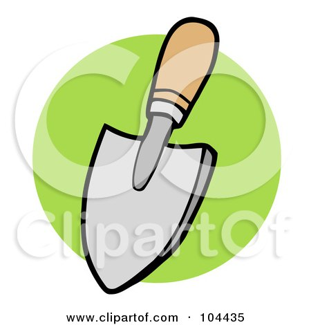 Royalty-Free (RF) Clipart Illustration of a Small Hand Trowel by Hit Toon